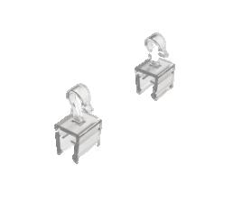 PLASTIC HOOK FOR FIXATION OF FRAMES / 001052