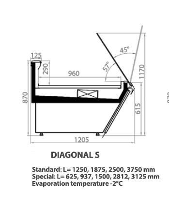 COLD DISPLAY COUNTER / DIAGONAL